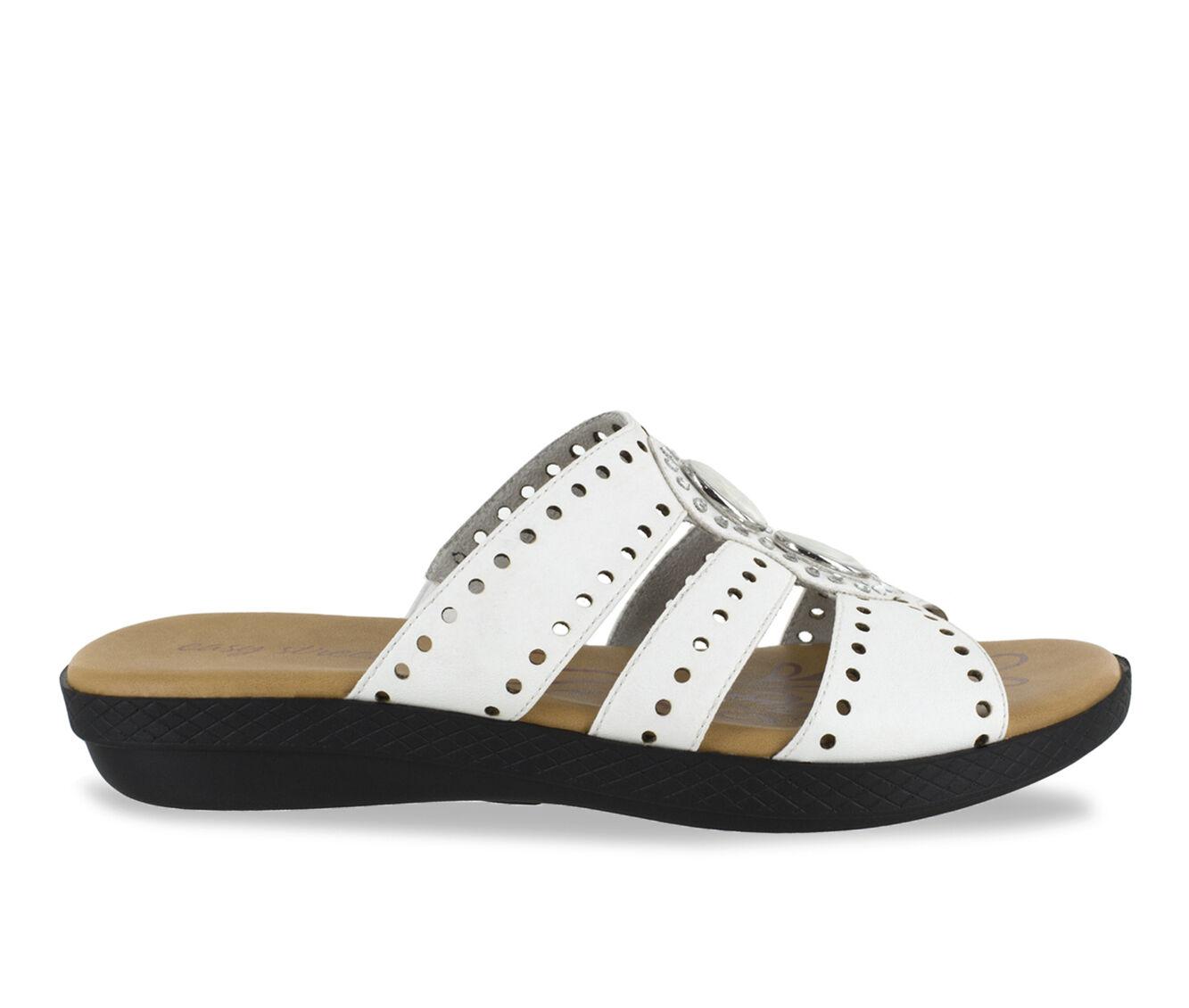 Women's Easy Street Vara Strappy Sandals White