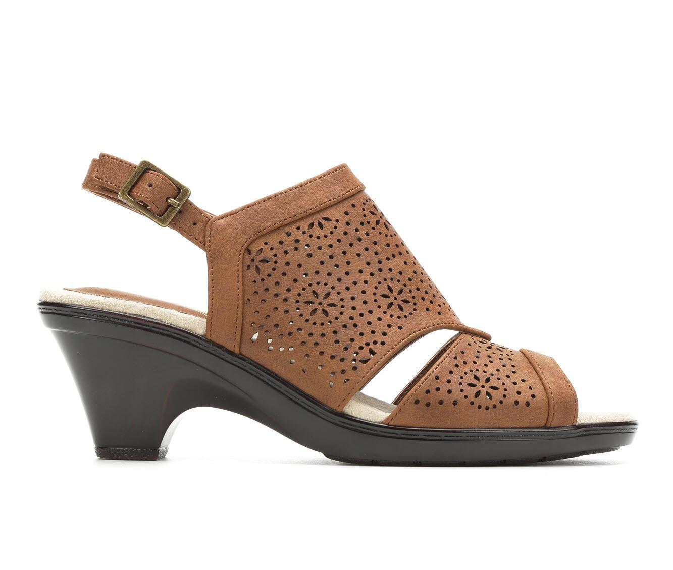 New Style Women's Easy Street Linda Heeled Sandals Tan