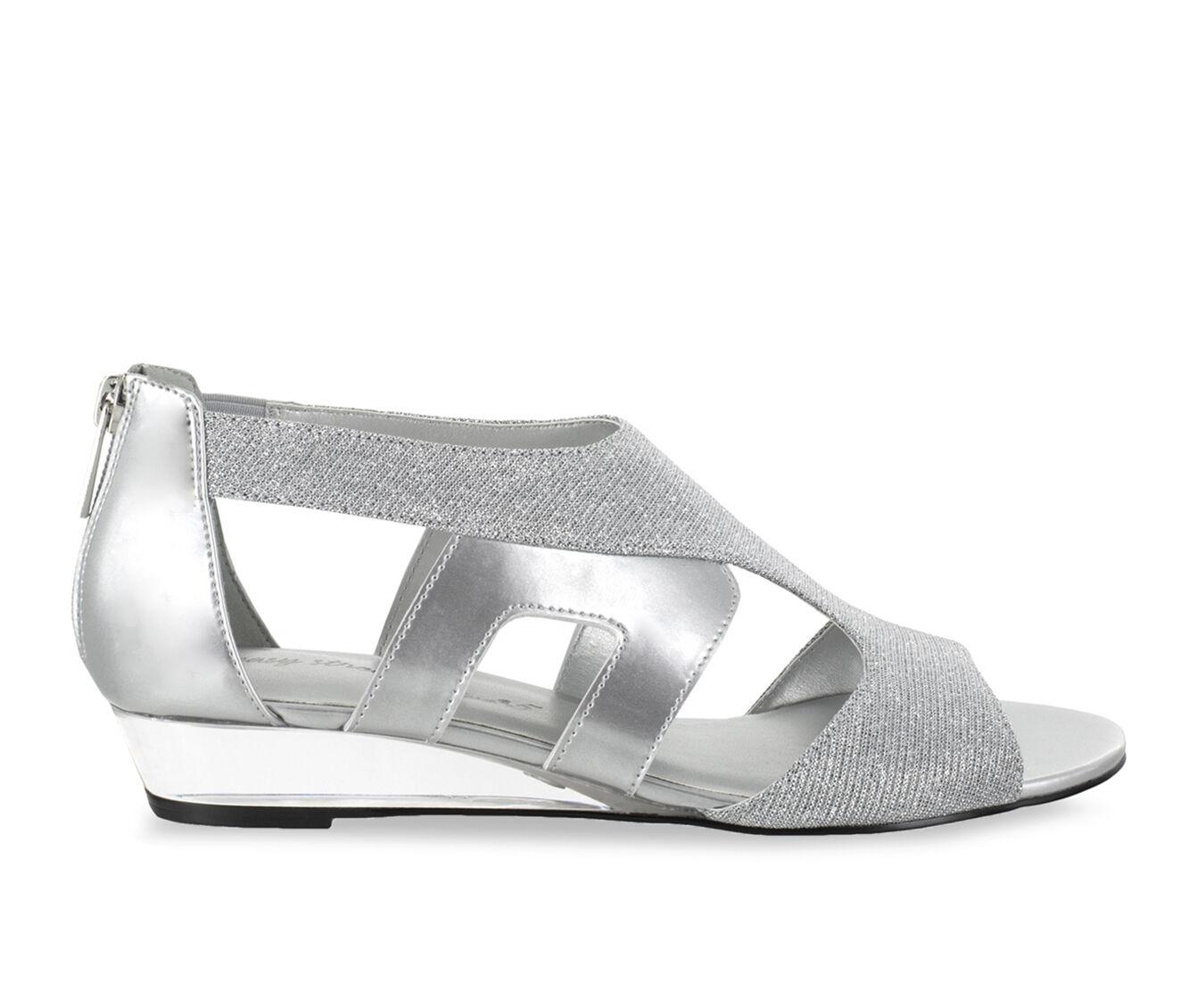 Women's Easy Street Abra Shoes Silver Glitter