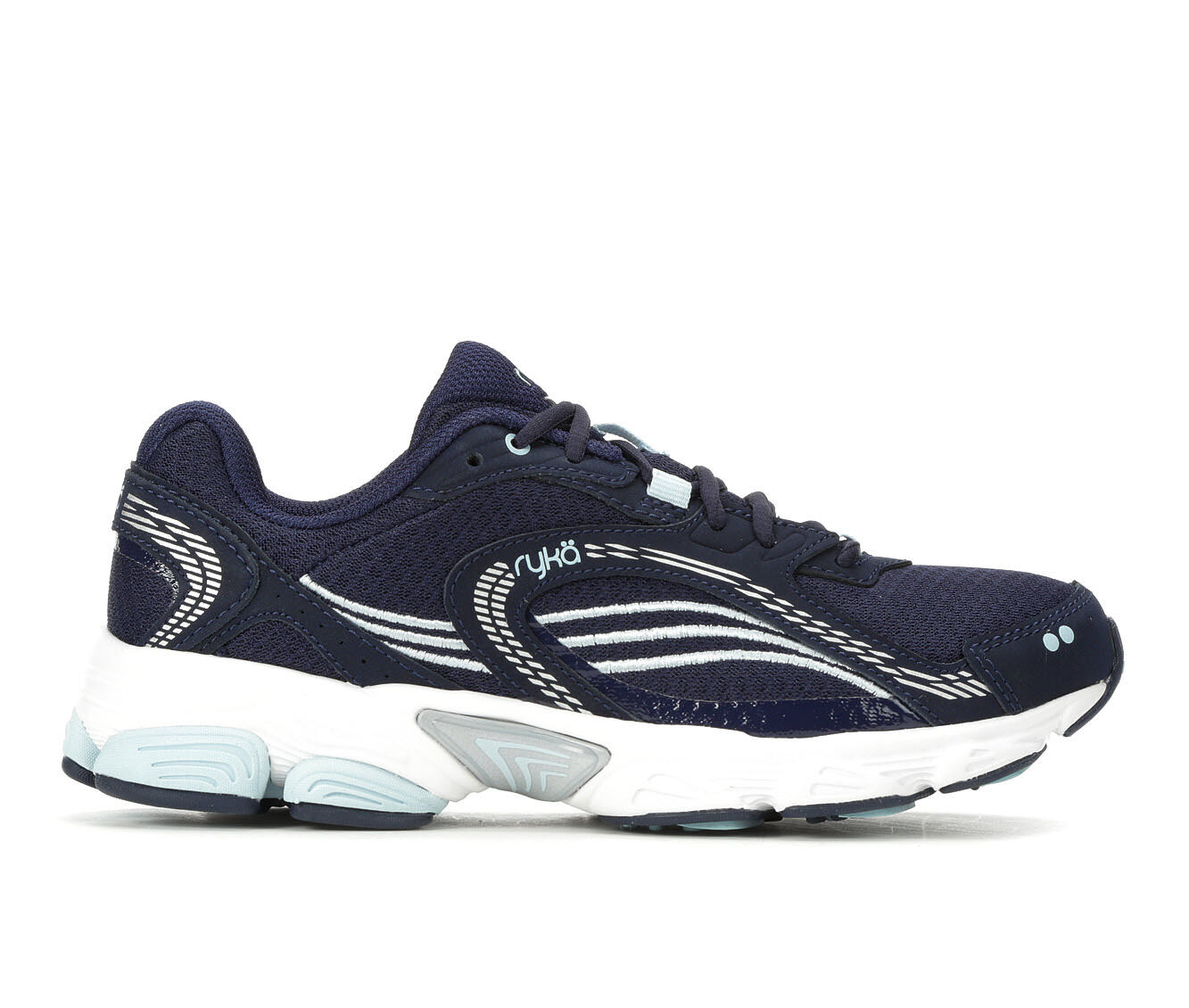 Women's Ryka Ultimate Running Shoes Navy/Blue/Silvr