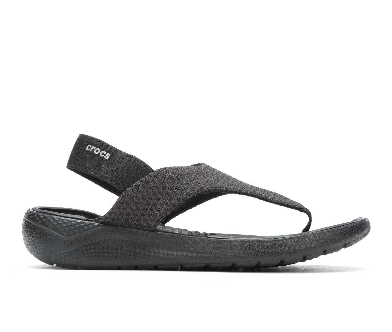 Women's Crocs Literide Mesh Flip Black/Black
