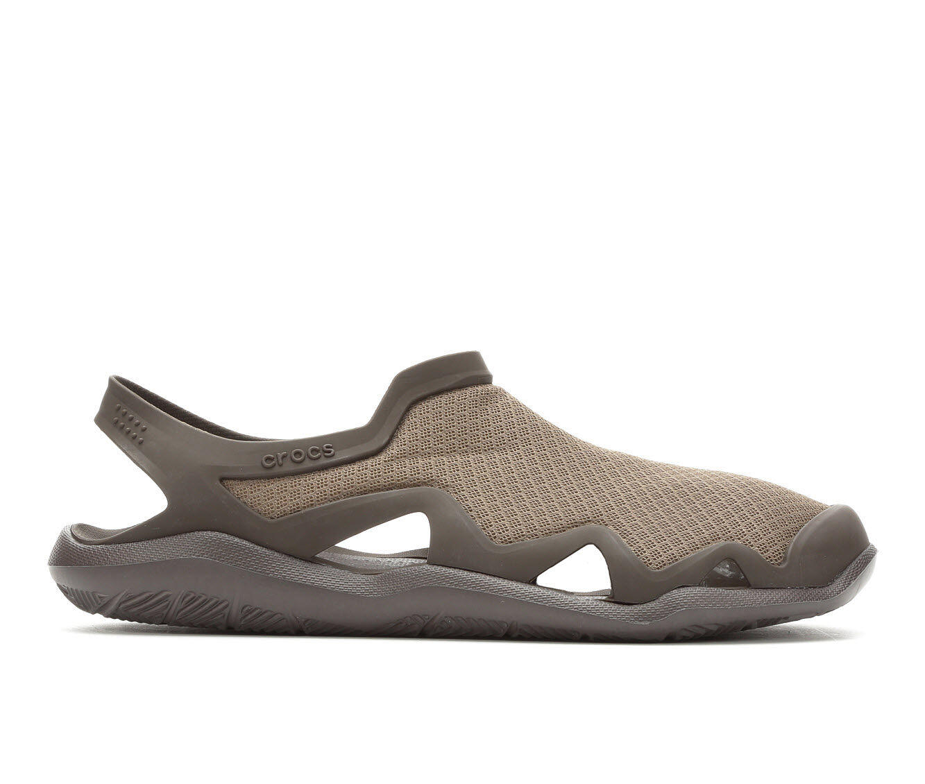 Men's Crocs Swiftwater Mesh Wave Outdoor Sandals Walnut/Espresso