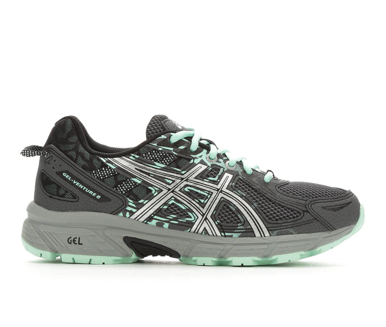 Women's ASICS Gel Venture 6 Trail Running Shoes Grey/Silv/Mint