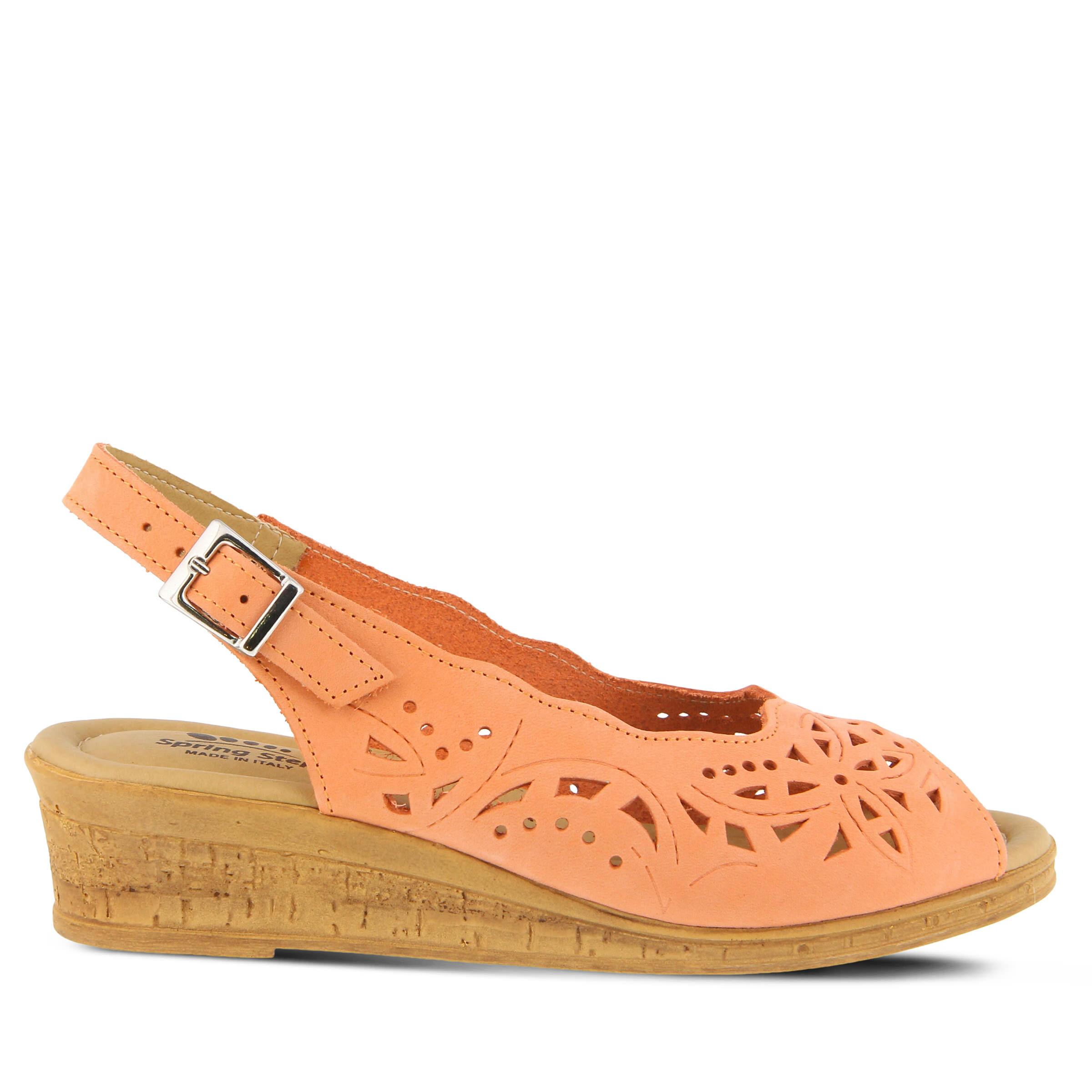 purchase comfortable cheap Women's SPRING STEP Orella Wedge Sandals Peach