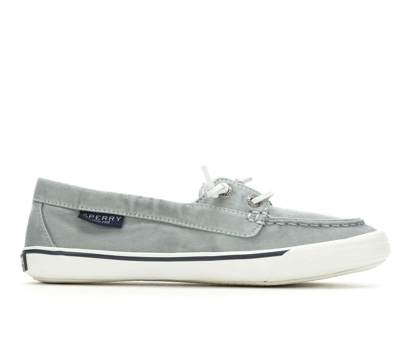 Women's Sperry Lounge Away Washed Canvas Boat Shoes Blue
