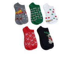 Apara Women's 5pr Holiday No Show Socks