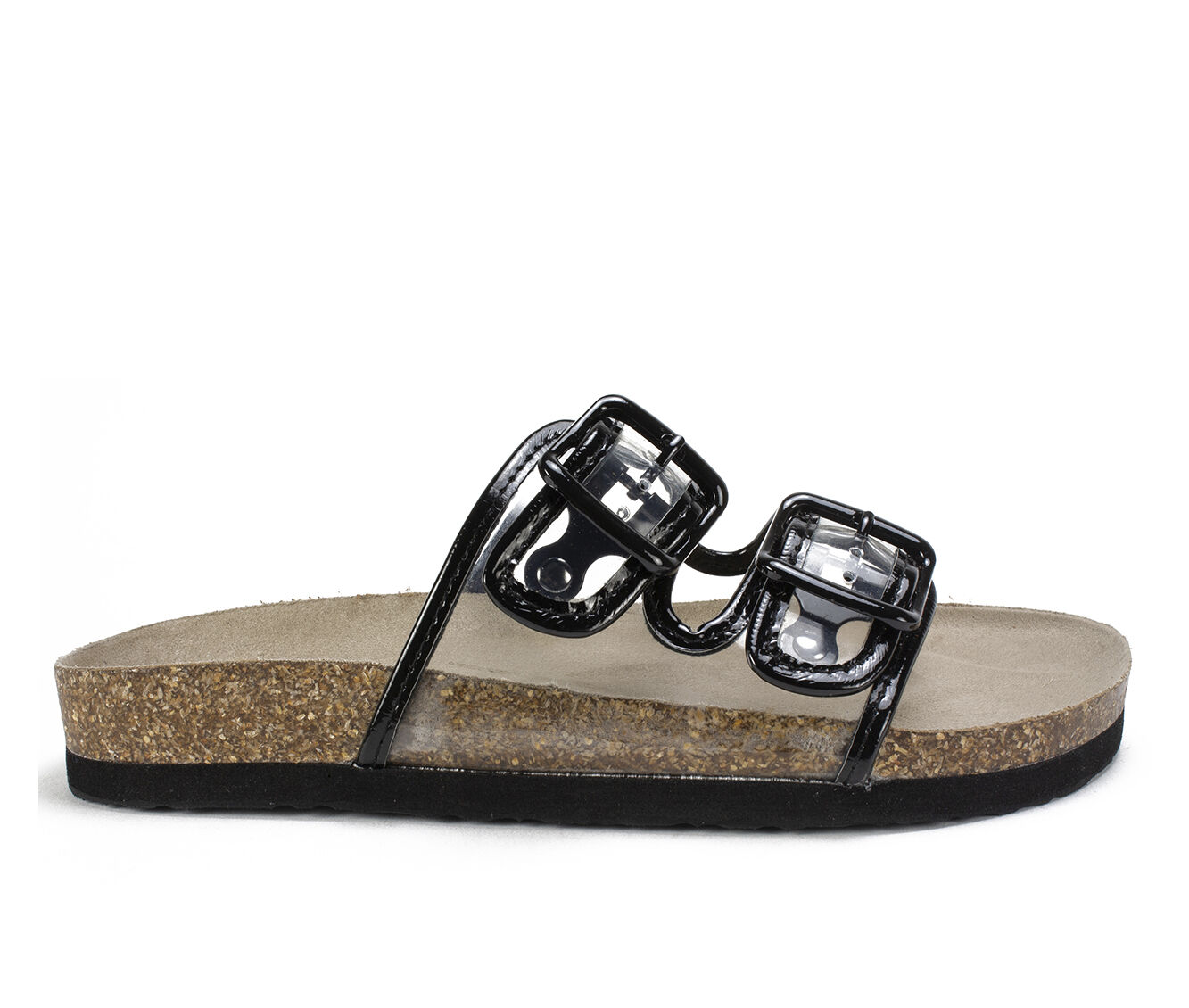 choose comfortable new Women's White Mountain Hilda Footbed Sandals Black