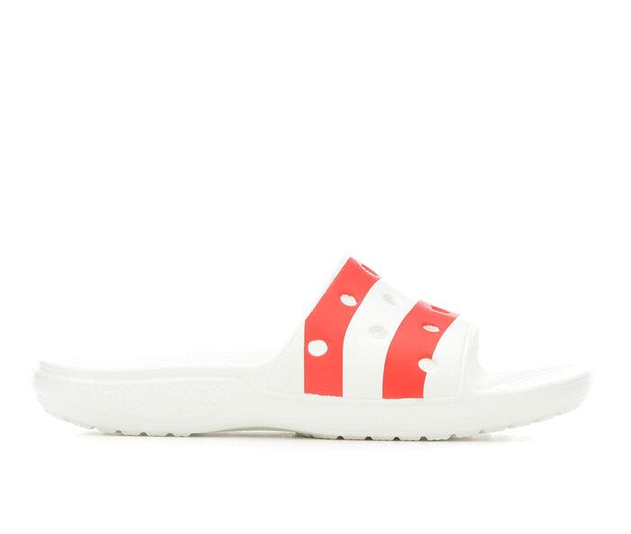 Women's Crocs American Flag Slides