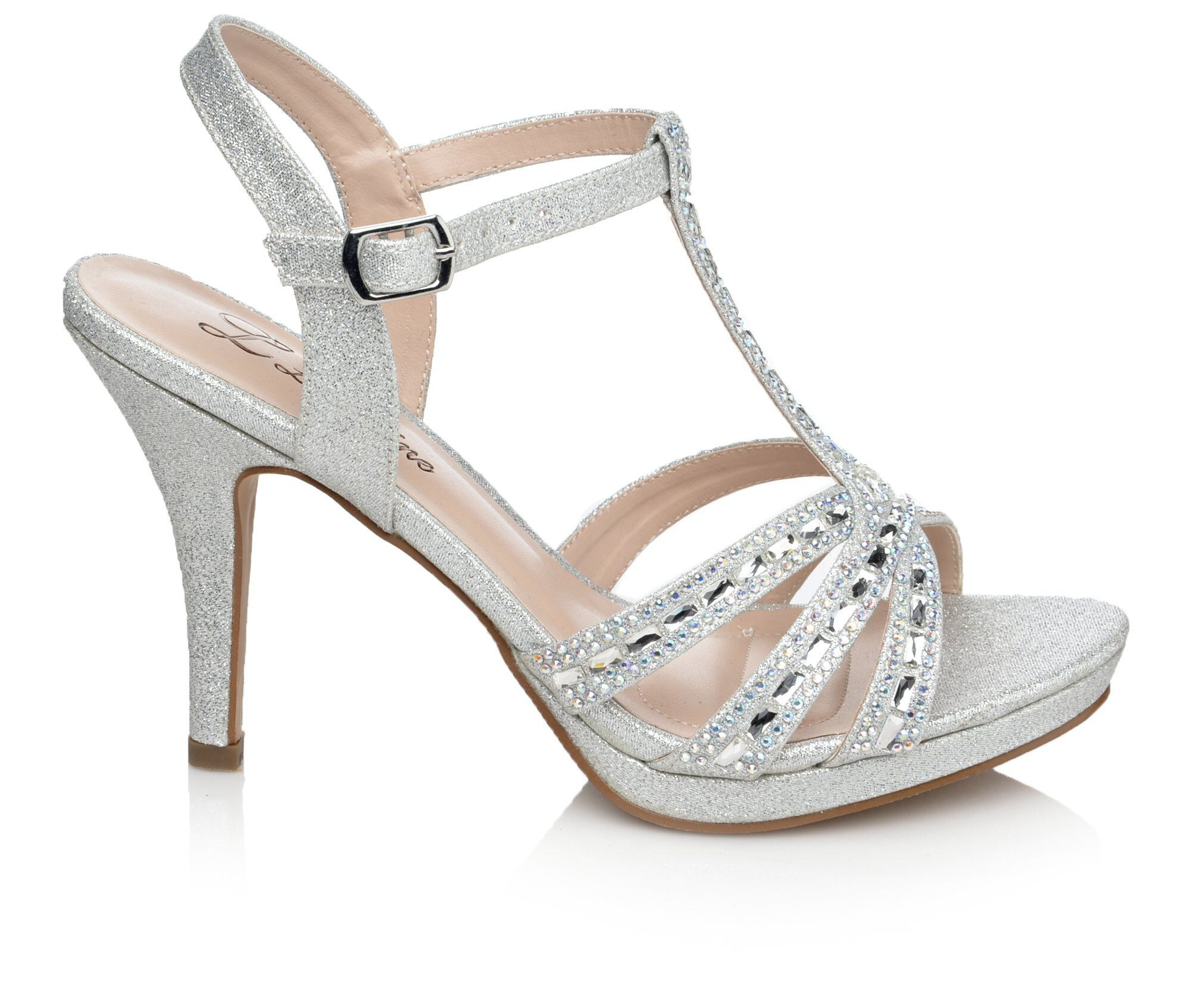 Women's LLorraine Lilly Strappy Heeled Dress Sandals Silver