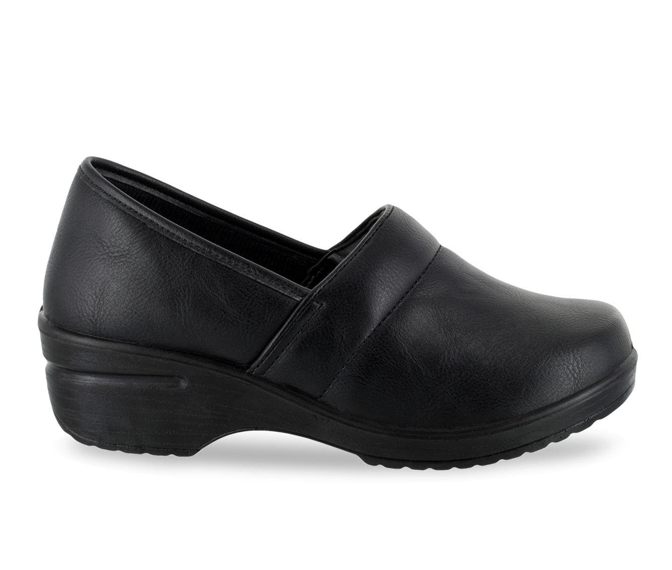 Women's Easy Works by Easy Street Lyndee Slip-Resistant Clogs Black Matte