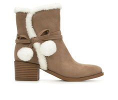 Girls' Nine West Little Kid & Big Kid Cyndees Mid Faux Fur Boots