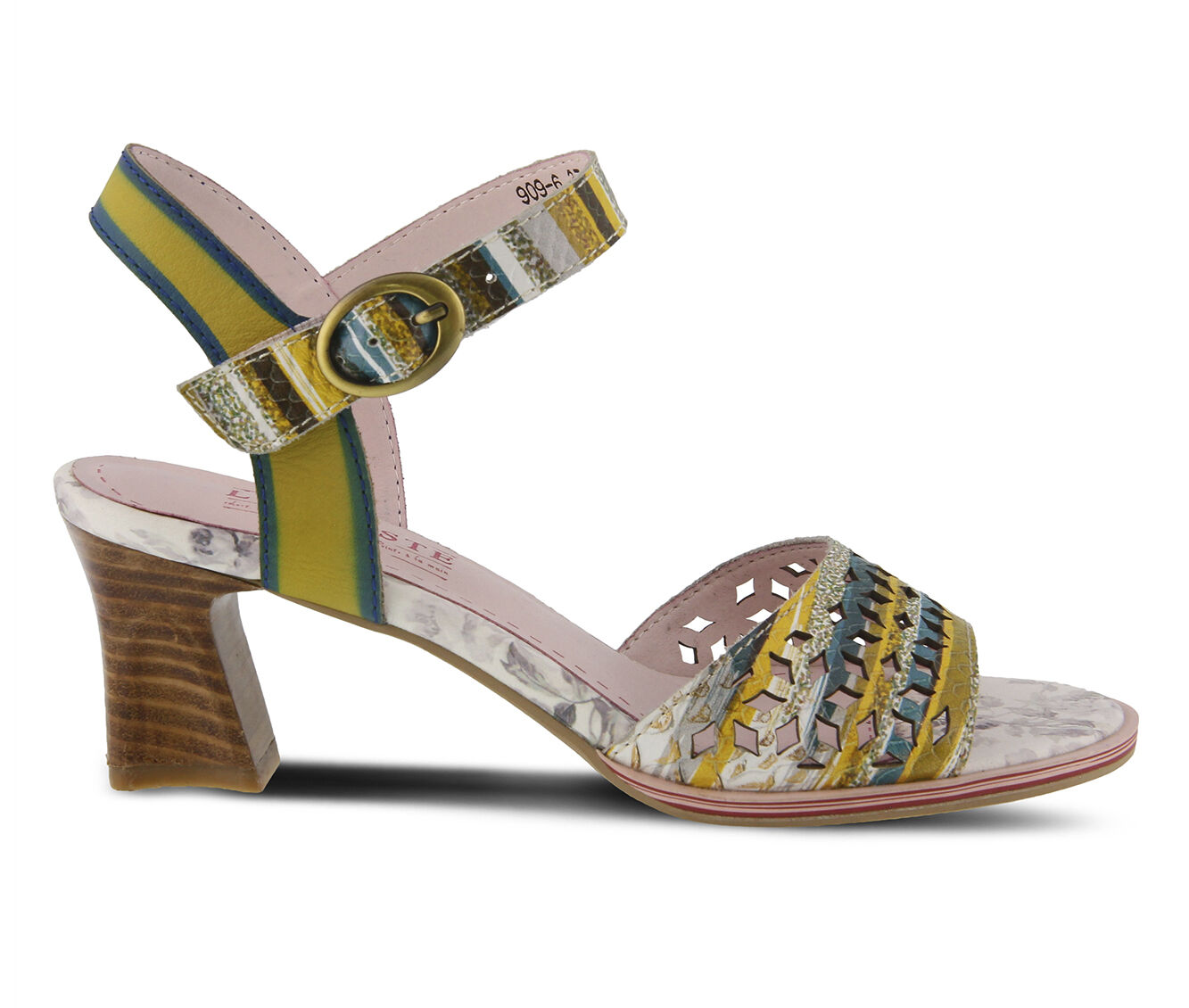 Women's L'ARTISTE Madelyn Dress Sandals Yellow Multi