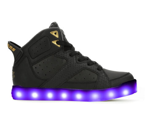 Boys' Skechers Energy Lights 2.0 Street Quest 10.5-7 High Top Light-Up Sneakers