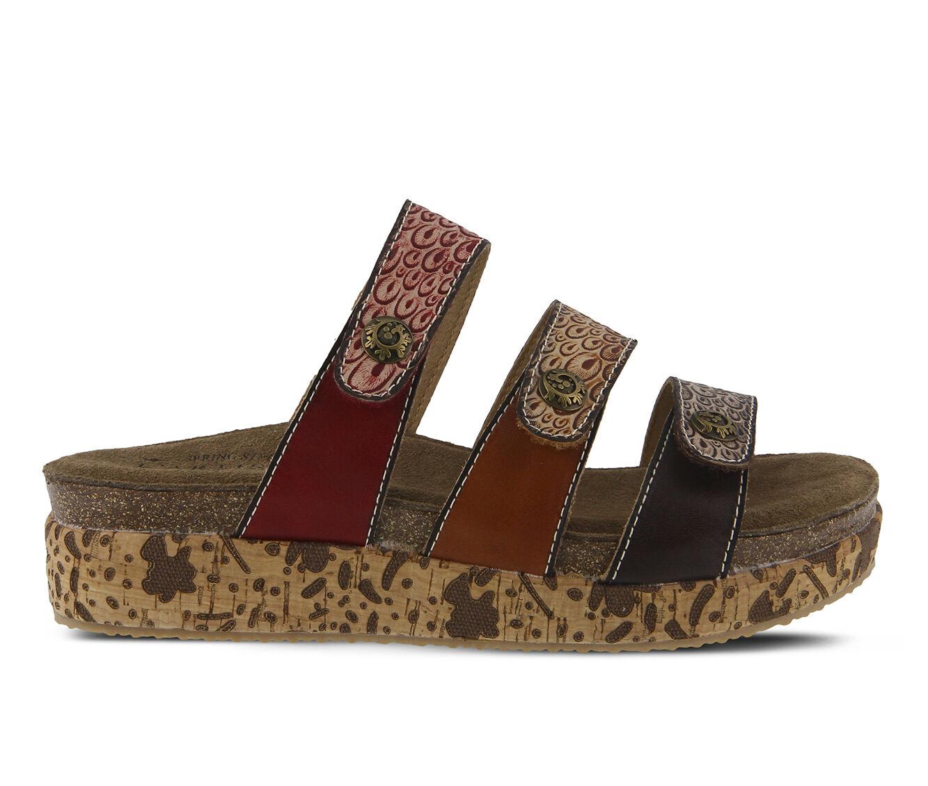 Women's L'ARTISTE Keena Flatform Sandals Brown Multi