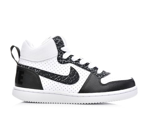 Boys' Nike Court Borough Mid Premium 10.5-3 Sneakers