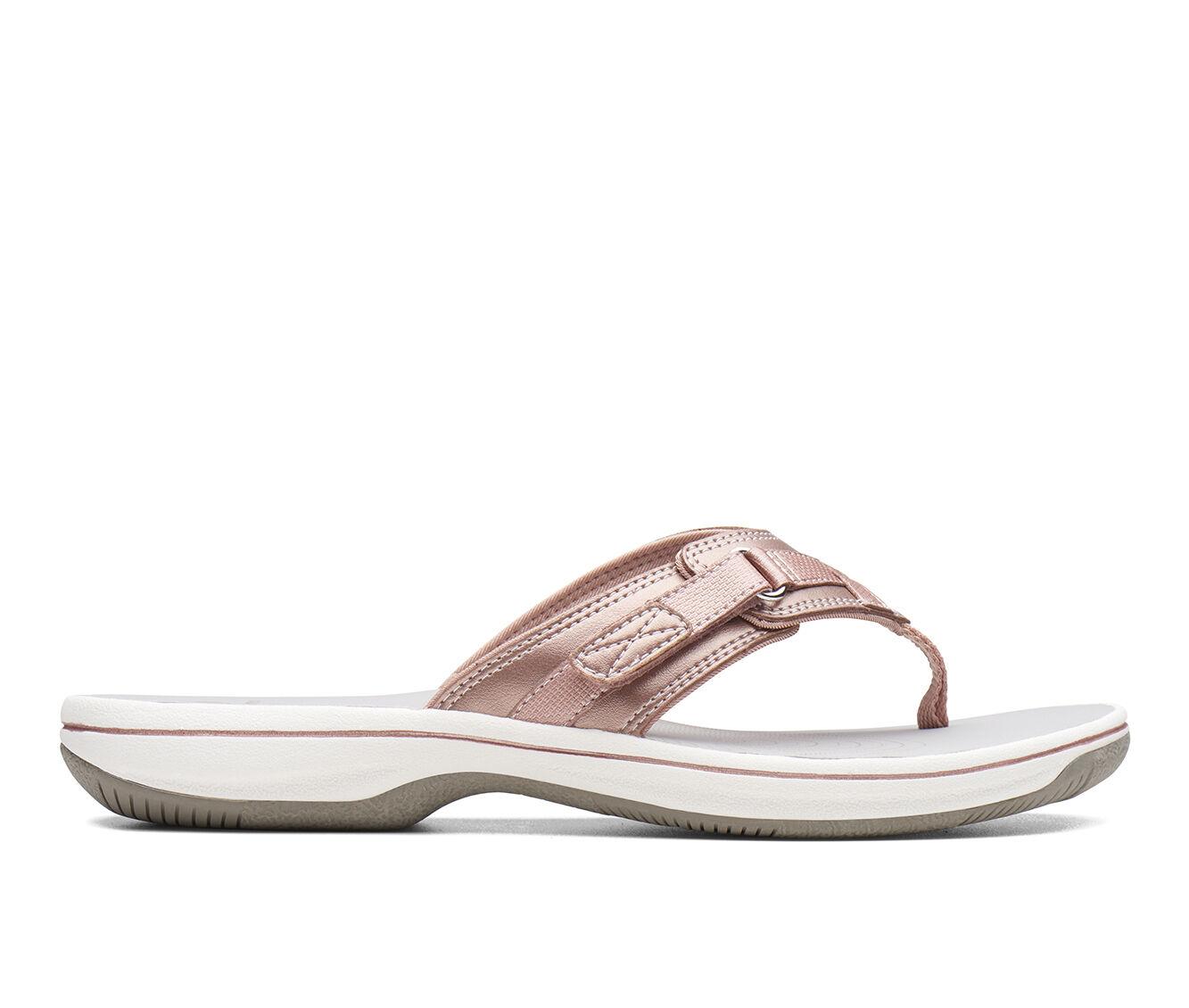 Women's Clarks Breeze Sea Sandals Rose Gold