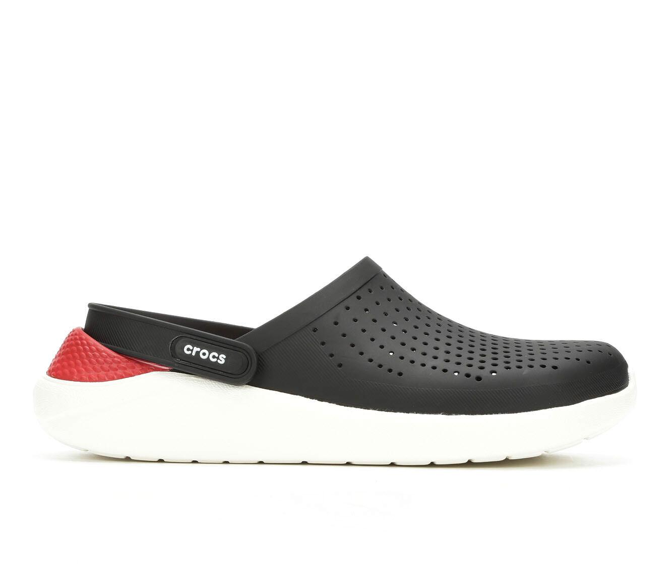 discount authentic Men's Crocs LiteRide Clog Black/Red/Wht