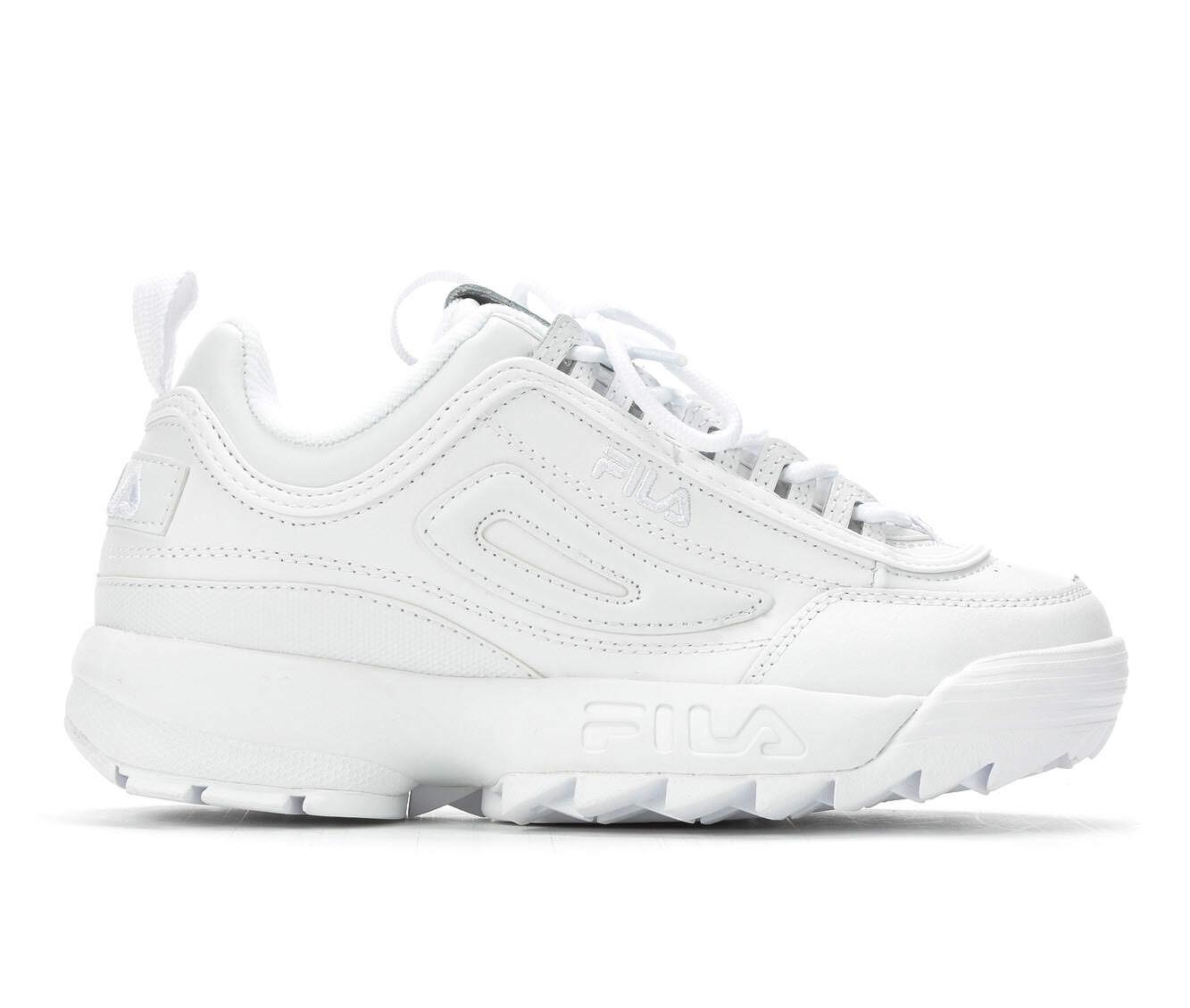 Women's Fila Disruptor II Premium Sneakers White/White