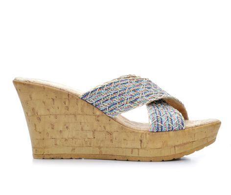 Women's Italian Shoemakers Ferrini Wedge Slide Sandals