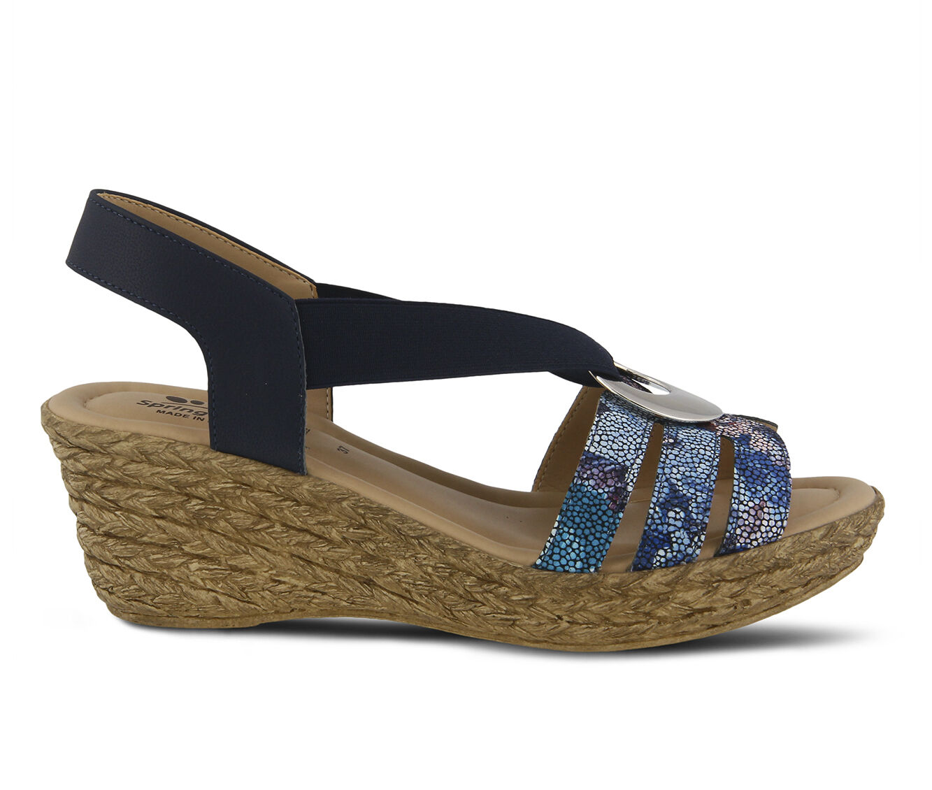 Worldwide Women's SPRING STEP Misi Dress Sandals Navy Multi