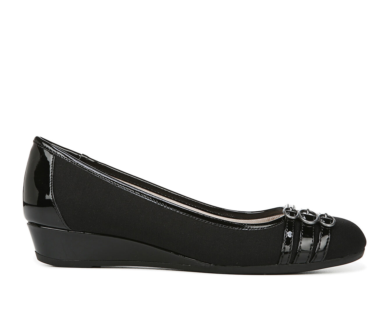 Women's LifeStride Fawn Shoes Black Fabric