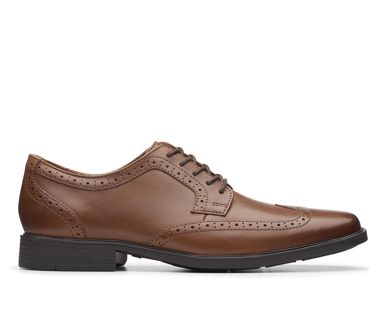 Men's Clarks Tilden Wing Dress Shoes Dark Tan