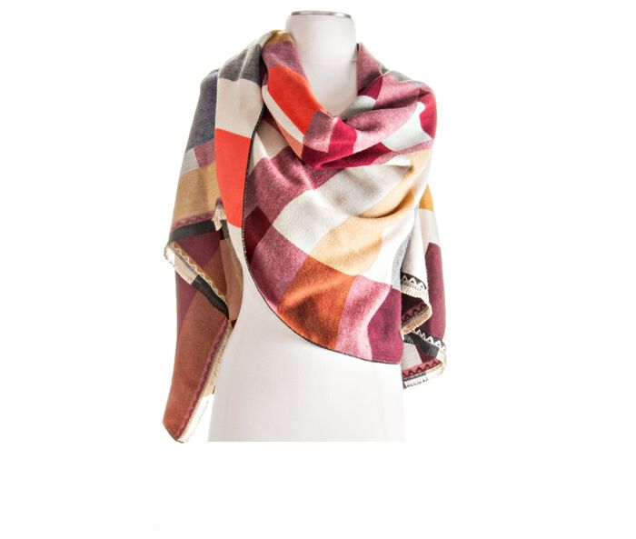 Rampage Colorblock Luxeweave Wrap