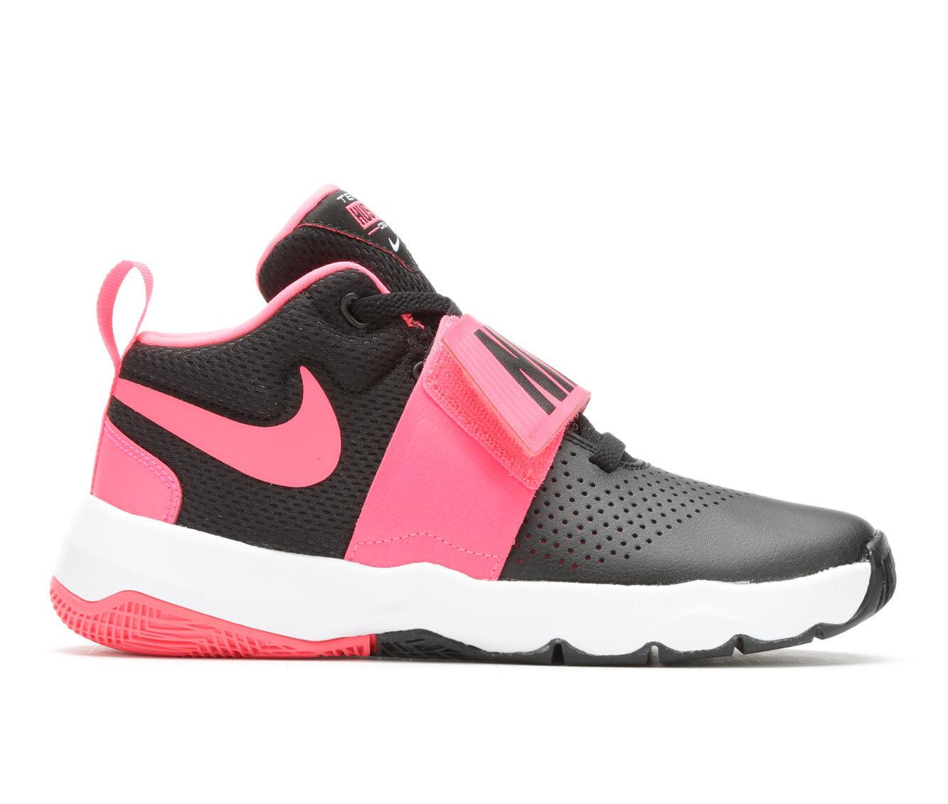 Girlsu0027 Nike Team Hustle D8 Girls 3.5-7 Basketball Shoes
