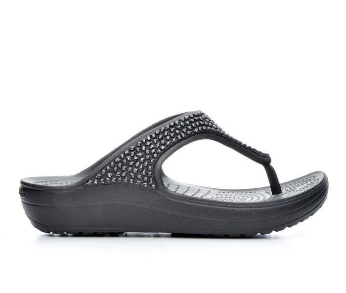 Women's Crocs Sloane Embellished Flip-Flops