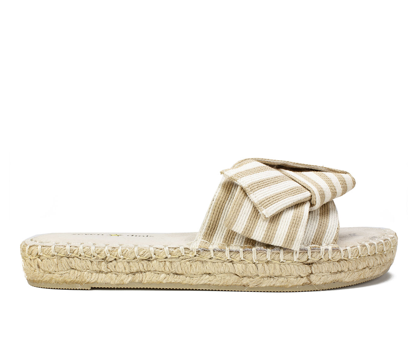 100% quality materials Women's Seven Dials Wagner Flatform Sandals Beige Striped