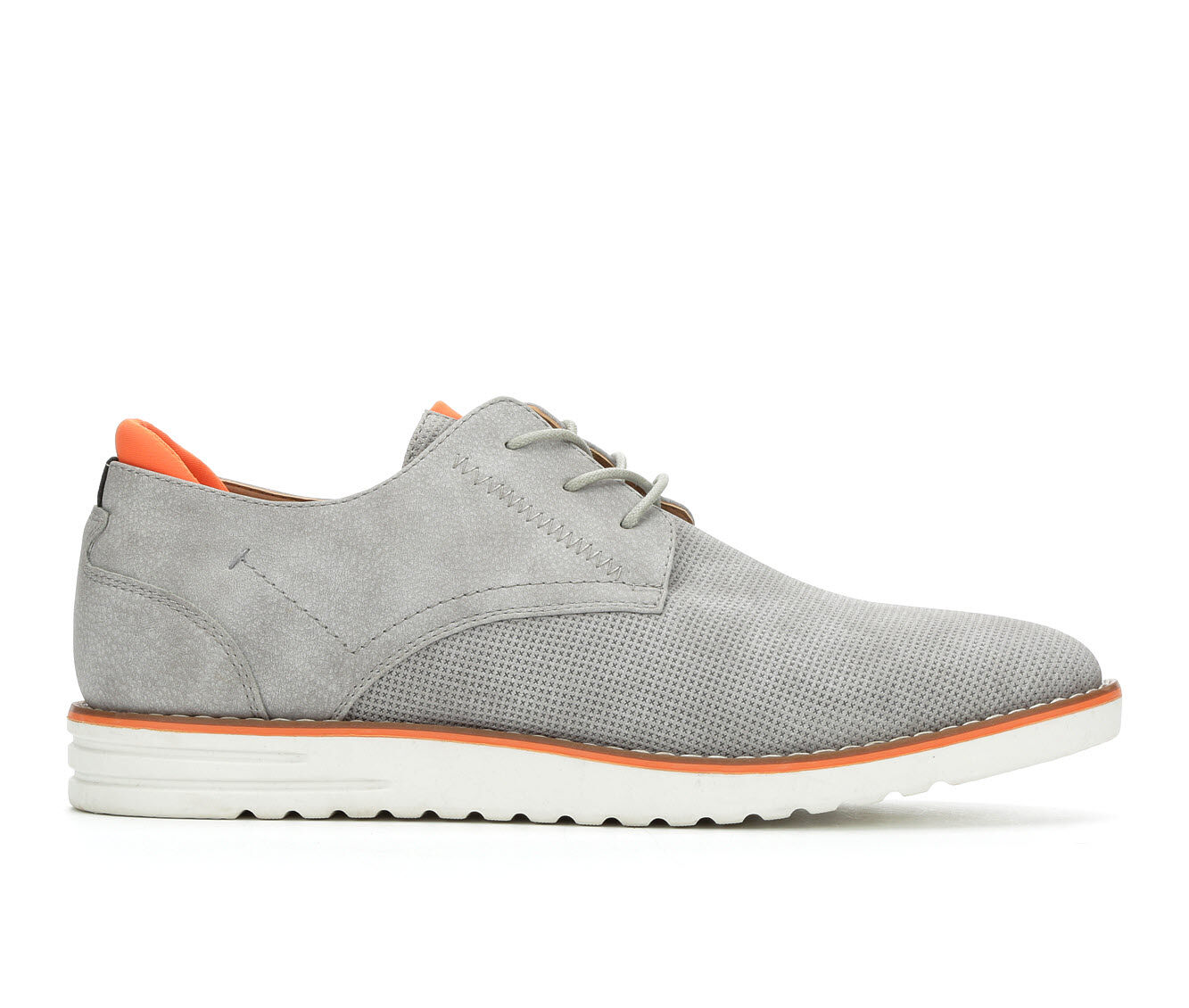 cheap wholesale Men's Madden Calen Dress Shoes Grey/Orange