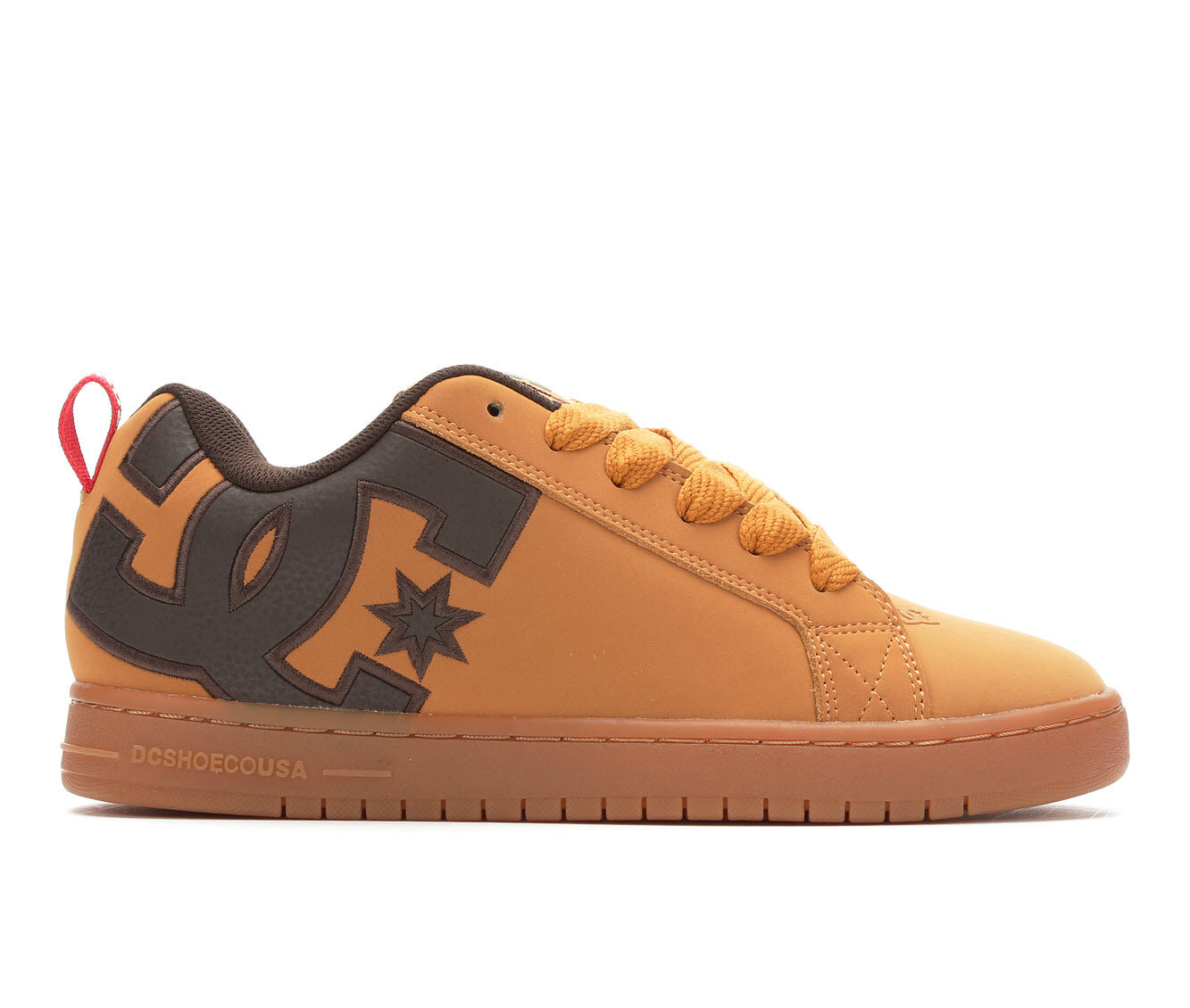 Men's DC Court Graffik SE Skate Shoes Wheat/Brn/Red