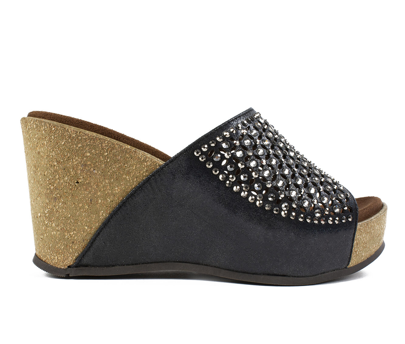 Delicate styles Women's White Mountain Coventry Wedges Black