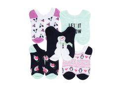 Apara Holiday No Show 5 Pair Socks