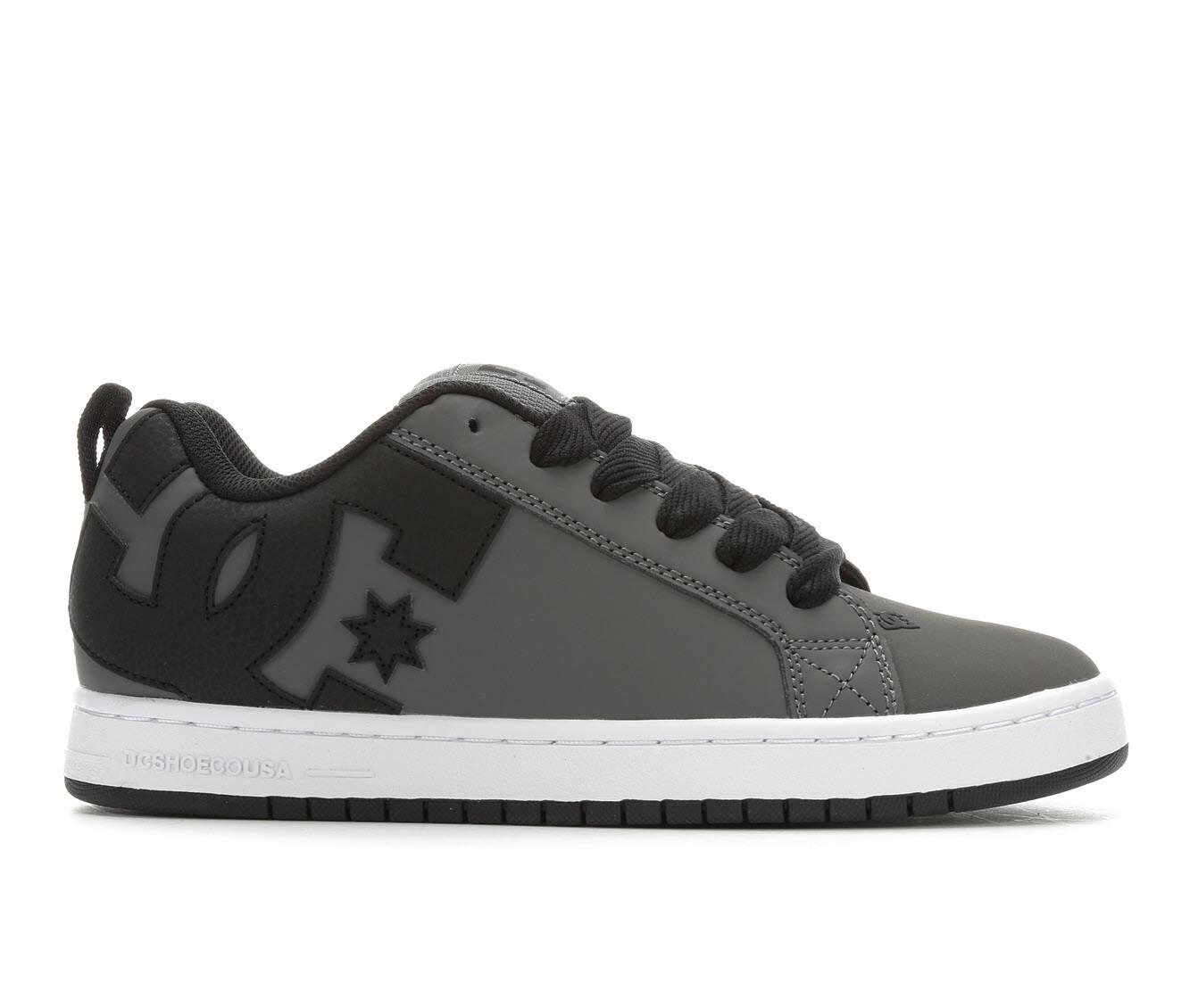 Men's DC Court Graffik Skate Shoes Grey/Grey/Black