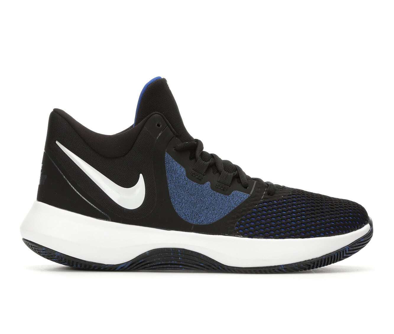 Factory Outlet Men's Nike Air Precision II High Top Basketball Shoes Blk/Wht/Blu