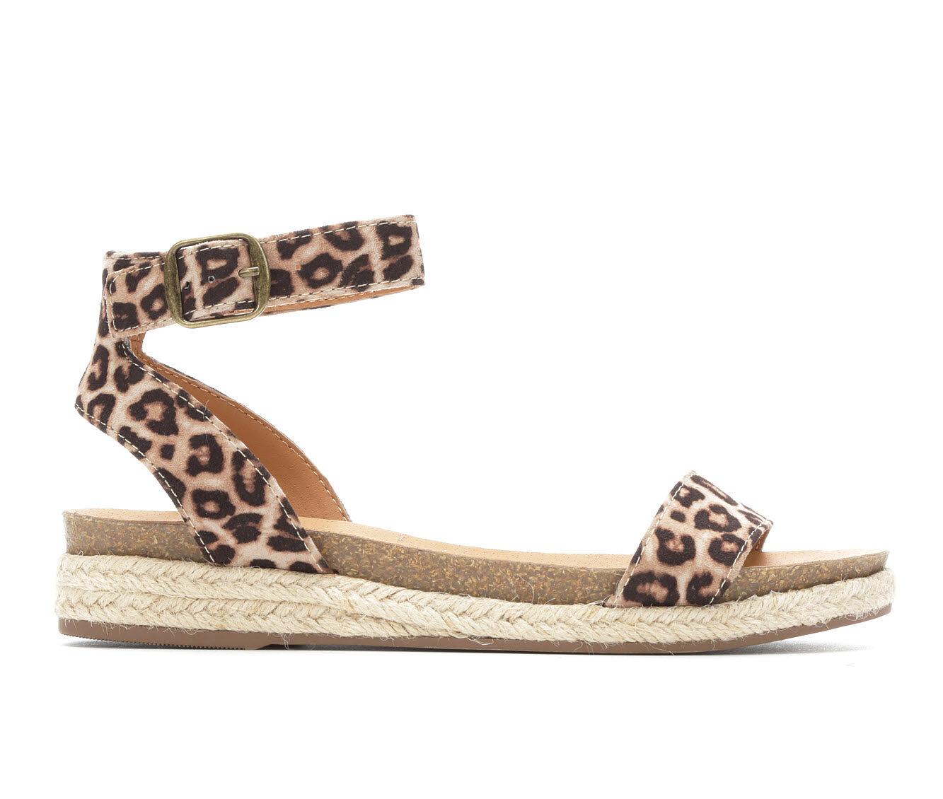 Women's City Classified Tacoma Flatform Sandals Oatmeal Cheetah