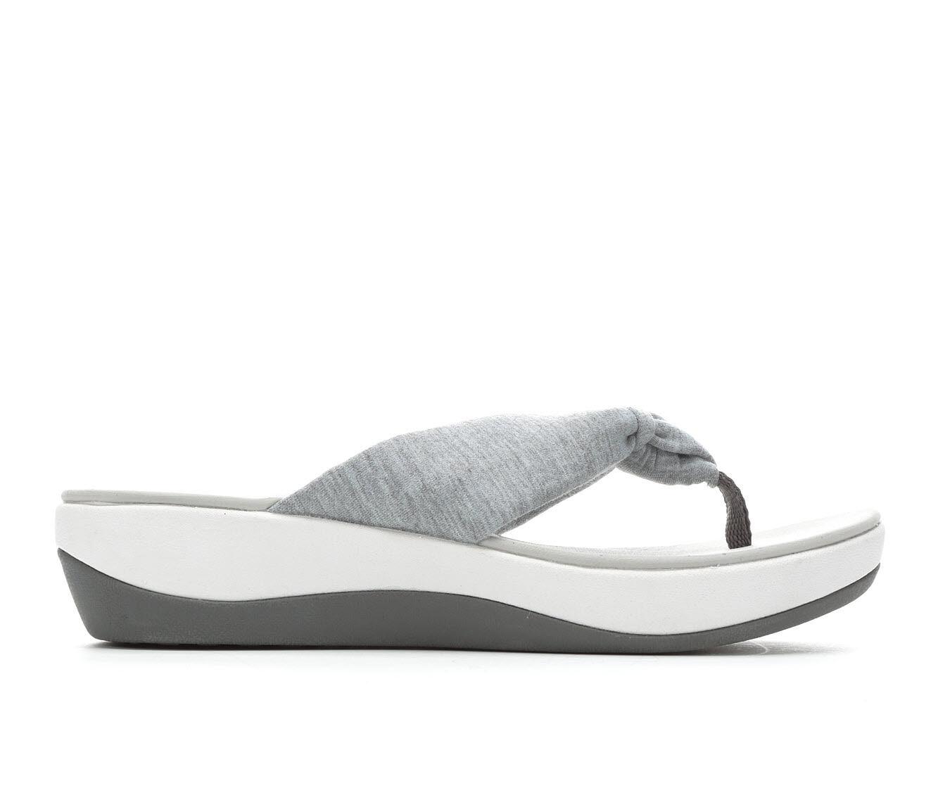 Women's Clarks Arla Glison Cloudsteppers Flip-Flops Grey