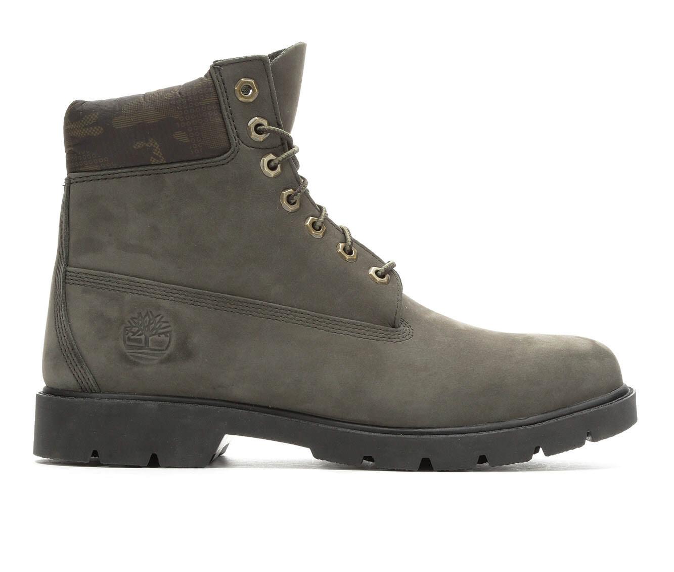 Men's Timberland 6 Inch Padded Camo Collar Boots Peat Nubuck