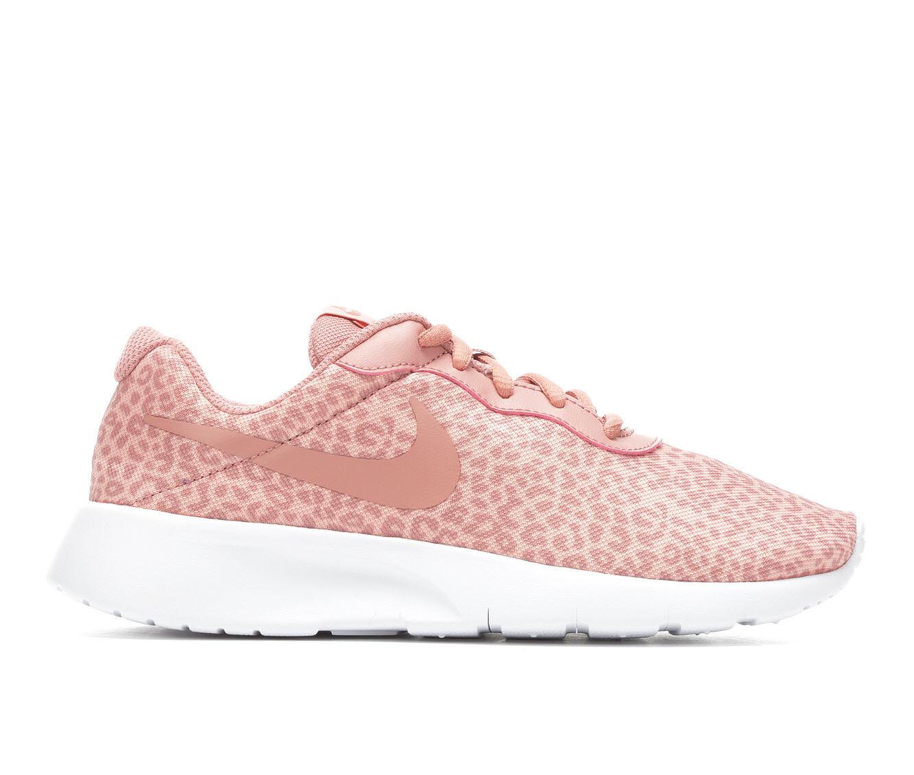 Nike Tanjun Print Girls Running Shoes White/Pink kI9215K