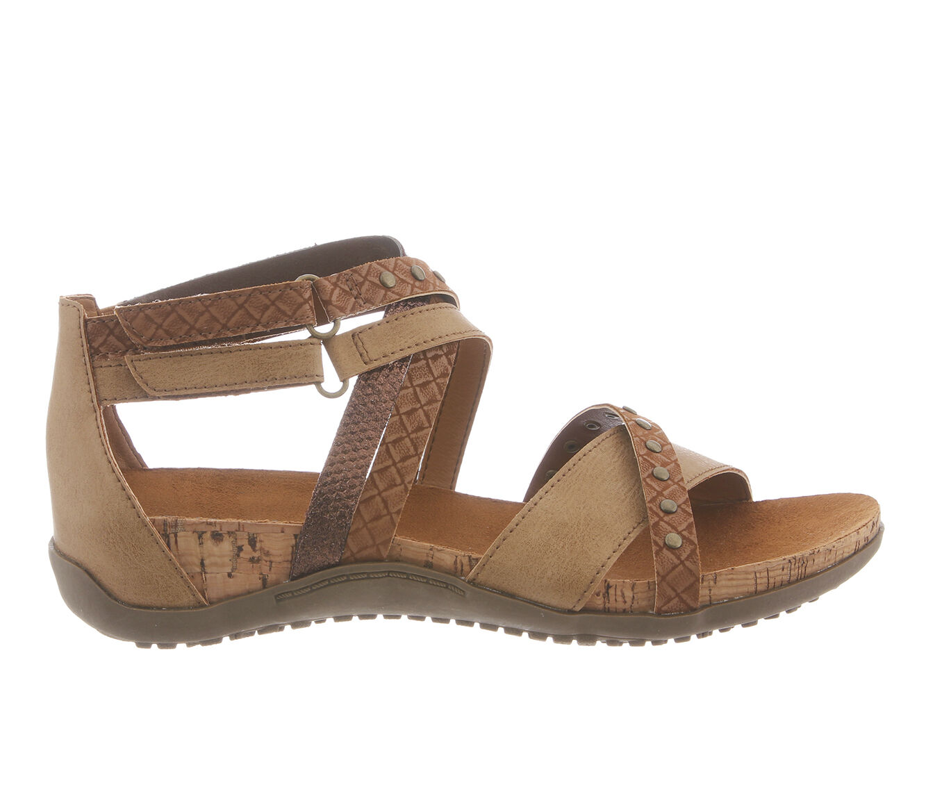 get cheap authentic Women's Bearpaw Juliana Strappy Footbed Sandals Tan