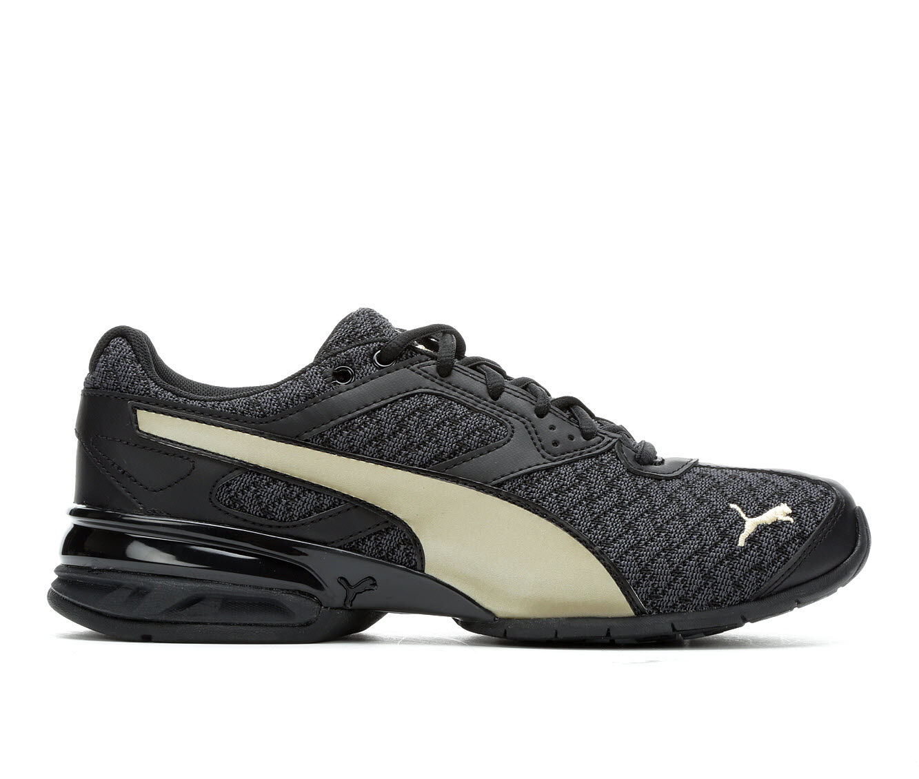 Women's Puma Tazon 6 Luxe Running Shoes Black/Gold