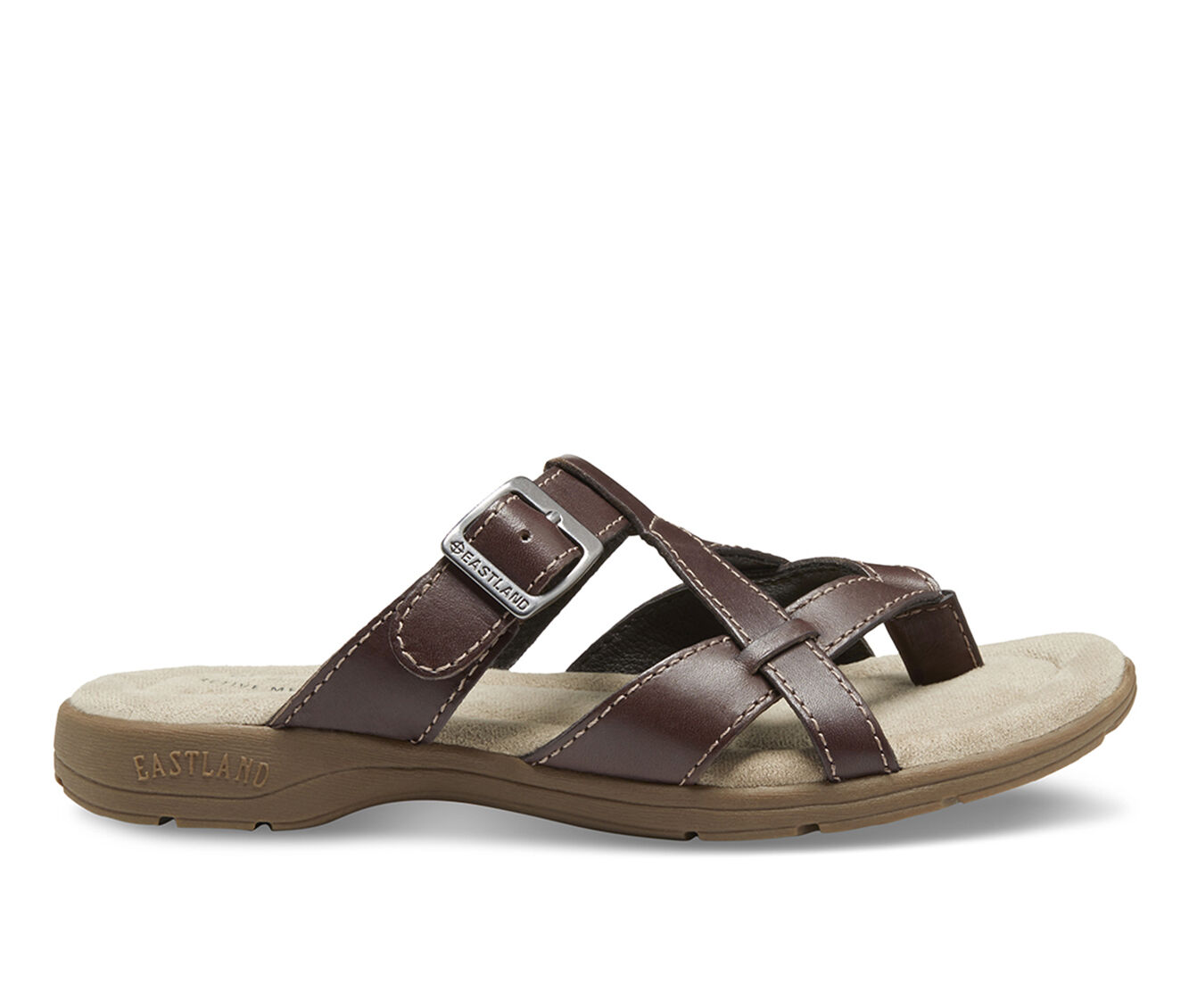 cheapest new arrivals Women's Eastland Pearl Sandals Brown