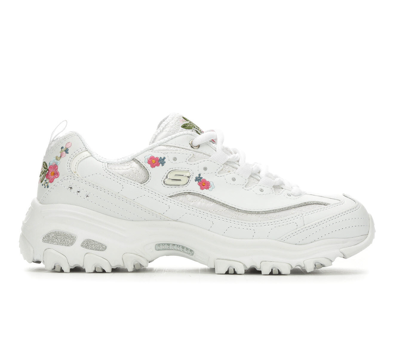 genuine shop Women's Skechers D'Lites Bright Blossoms 11977 Sneakers White