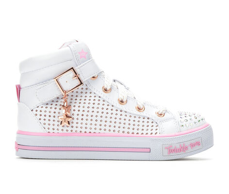 Girls' Skechers Pop Dazzle 10.5-4 High Top Light-Up Sneakers