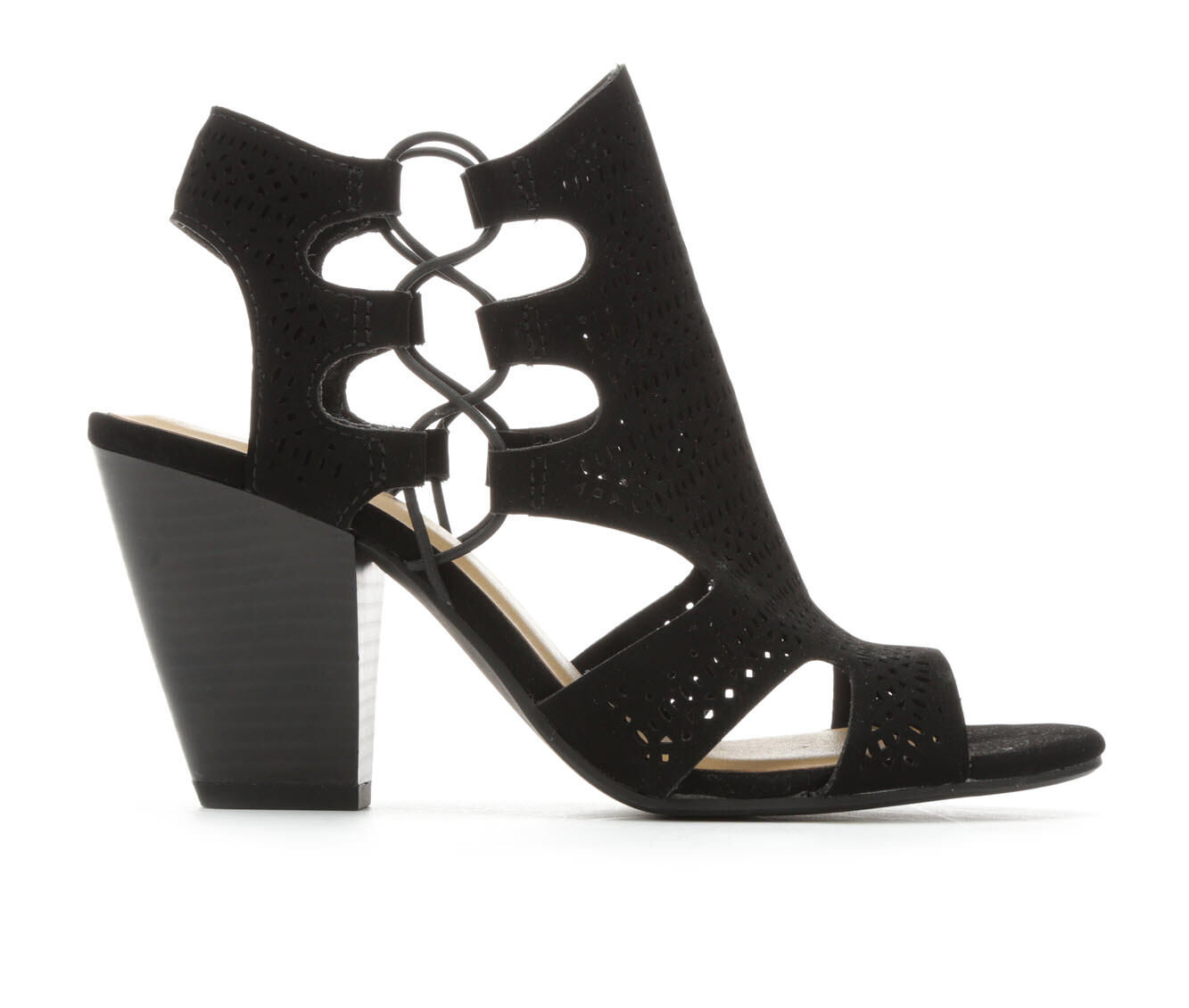 Women's Y-Not Zuka Heeled Sandals Black Nubuck
