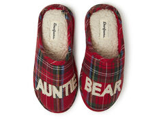 Dearfoams Auntie Bear Plaid Clog Slippers