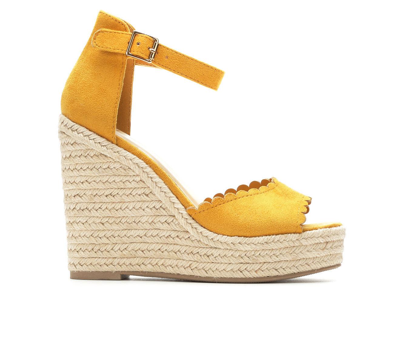 Women's Y-Not Herald Wedge Sandals Mustard