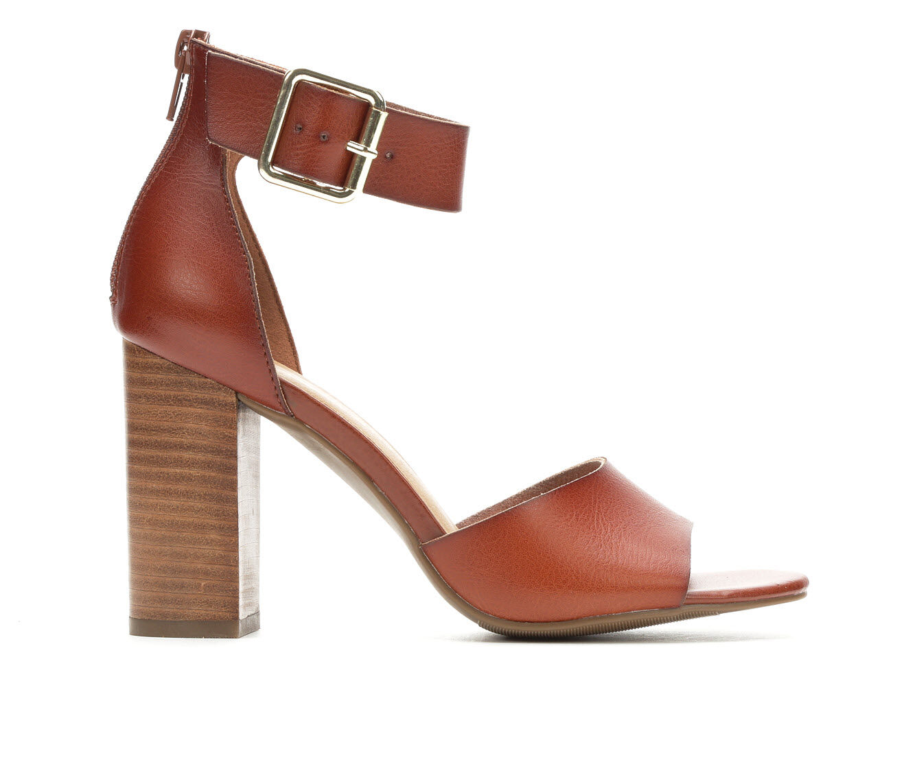 chooes cheap Women's Madden Girl Harper Dress Sandals Cognac