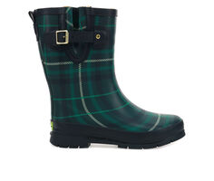 Women's Western Chief Timeless Tartan Plaid Mid Rain Boots